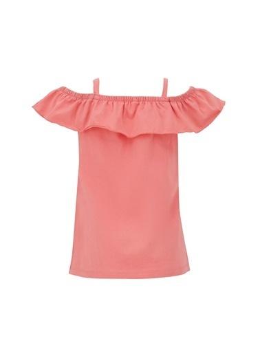 DeFacto Kız Çocuk İnce Askılı Volanlı Bluz Pembe